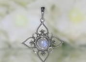 Moonstone pendant-floral bliss