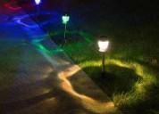 Solar stake lights