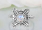 Moonstone ring floral euphoria