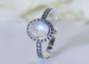 Moonstone ring noble luminance-gsj