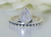 Moonstone ring glittering tiara-gsj
