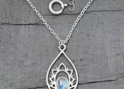 Moonstone necklace - splendid cassiopeia - gsj