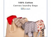 Shop hanging cotton canvas laundry bag online usa