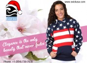Special customized american flag printed hoodies