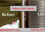 #1 experience garage door  rolling gate repairs se