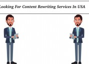 Looking for content rewriting services in usa