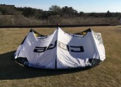 Used core riot xr5 kite-7m-white/black