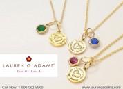 Fine coral pendant necklace - lauren g adams