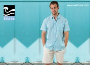 Men's short sleeve button down shirts - exist inc