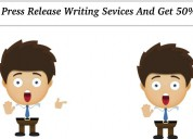 Grab press release writing sevices and get 50% off