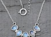 Moonstone necklaces - captured gleam
