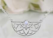 925 moonstones necklace - adorned aura