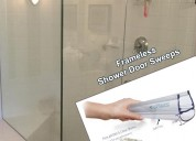 Frameless glass door sweep - shower sweeps