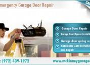 #1 experience garage door repair services|mckinney