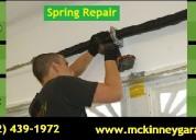 Broken garage door spring installation and repair