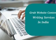 Grab website content writing services in india