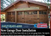 Same day - new garage door installation katy,tx