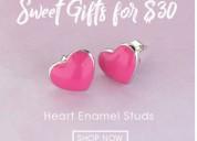 Gift your valentine with enamel hoop earrings