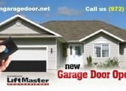 Broken garage door opener system repair and instal