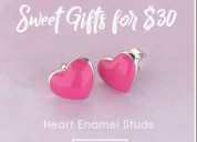 Gift your special one with enamel hoop earrings