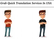 Grab quick translation services in usa
