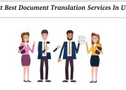 Get best document translation services in usa