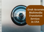 Grab accurate multimedia translation services