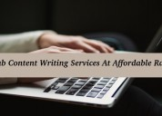 Grab content writing services at affordable rates