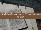 Grab reliable language writing services in usa