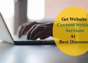 Get website content writing services at best rate