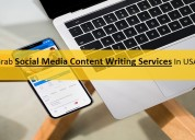 Grab social media content writing services in usa