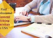 Find professional content writing services in usa