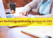 Get multilingual writing services in usa