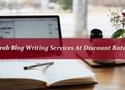 Grab blog writing services at discount rates