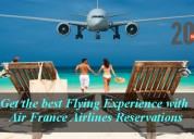 Get the best flying experience with air france air