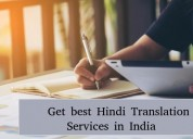 Get best hindi translationservices in india