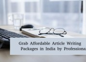 Grab affordable article writing packages in india