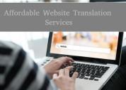 Affordable website translation services