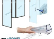 Glass shower enclosures - frameless sliding glass