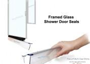 Framed glass shower door seals