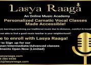 Learn carnatic mmusic lessons in online | lasya ra