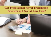 Get professional novel translation services in usa