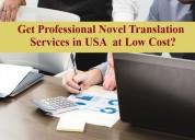 Get professional novel translation services in usa