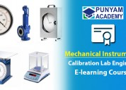 Mechanical instruments calibration course online