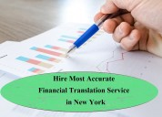 Hire most accurate financial translation service