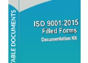 Iso 9001 filled formats