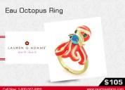 Designer sea life ring collection- lauren g adams