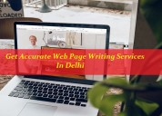 Get accurate web page writing services in delhi