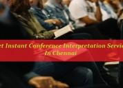 Get instant conference interpretation services