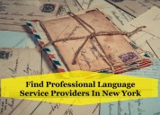 Find professional language service providers